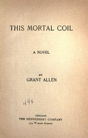 Cover of: This mortal coil: a novel