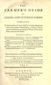 Cover of: The farmer's guide in hiring and stocking farms