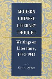 Cover of: Modern Chinese Literary Thought