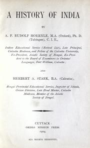 Cover of: A history of India