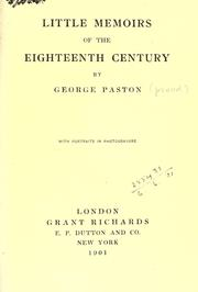 Cover of: Little memoirs of the eighteenth century