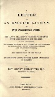 Cover of: A letter to an English layman | Henry Phillpotts