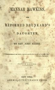 Cover of: Hannah Hawkins, the reformed drunkard's daughter