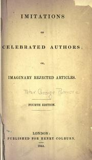 Cover of: Imitations of celebrated authors | Peter George Patmore
