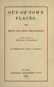 Cover of: Out-of-town places: with hints for their improvement
