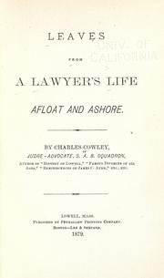 Cover of: Leaves from a lawyer's life, afloat and ashore
