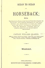 Cover of: Ocean to ocean on horseback