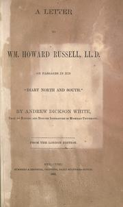 Cover of: A letter to Wm. Howard Russell, LlD