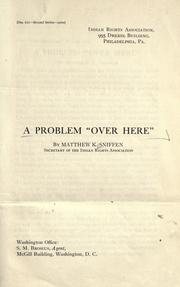 "Cover of: A problem ""over here"" 