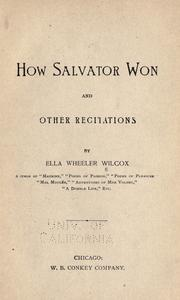 Cover of: How Salvator won and other recitations