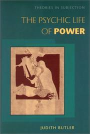 Cover of: The psychic life of power
