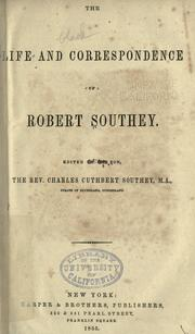 Cover of: New letters of Robert Southey