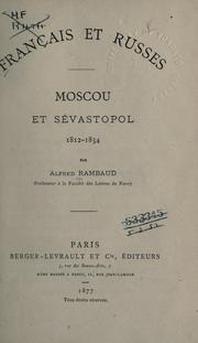 Franc̜ais et Russes by Alfred Rambaud