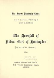 Cover of: The downfall of Robert, Earl of Huntingdon