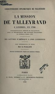 Cover of: Correspondance diplomatique de Talleyrand