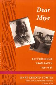 Cover of: Dear Miye