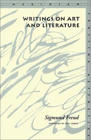 Cover of: Writings on art and literature | Sigmund Freud