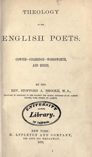 Theology in the English poets by Brooke, Stopford Augustus
