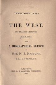 Twenty-five years in the West by Erasmus Manford