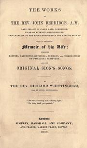 Cover of: The works of the Rev. John Berridge