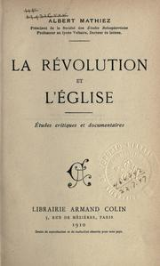 Cover of: La r©Øevolution et l'©Øeglise