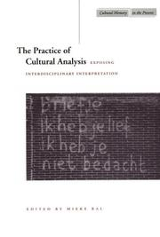 Cover of: The Practice of Cultural Analysis