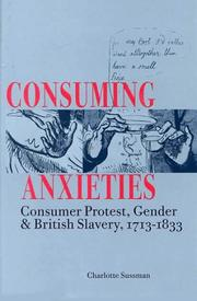 Cover of: Consuming Anxieties