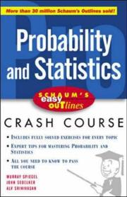 Cover of: Probability and statistics |