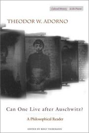 Cover of: Can One Live After Auschwitz?