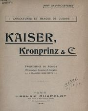 Cover of: Kaiser, Kronprinz & cie