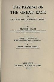 Cover of: The passing of the great race