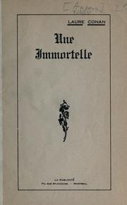 Cover of: Une immortelle [par] Laure Conan