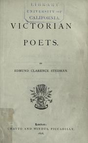 Cover of: Victorian poets