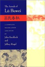 The Annals of Lu Buwei by