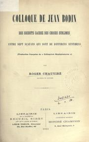 Cover of: Colloque de Jean Bodin