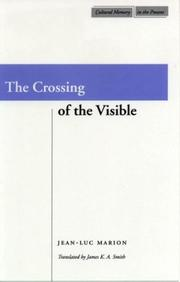 Cover of: The Crossing of the Visible (Cultural Memory in the Present)