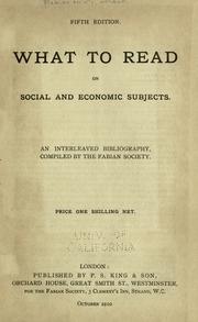 Cover of: What to read on social and economic subjects