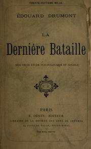 Cover of: La derni©Łere bataille