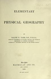 Cover of: Elementary physical geography