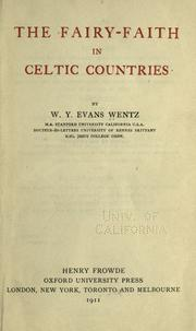 Cover of: The fairy-faith in Celtic countries