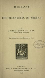 History of the buccaneers of America by James Burney