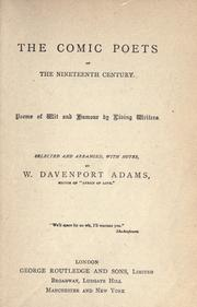 Cover of: The comic poets of the nineteeth century by W. Davenport Adams