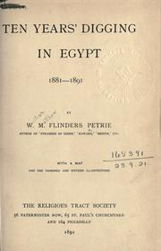 Cover of: Ten years' digging in Egypt, 1881-1891