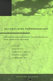 Cover of: Naturalizing Phenomenology |