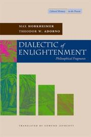 Cover of: Dialectic of enlightenment |