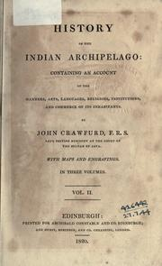 Cover of: History of the Indian Archipelago