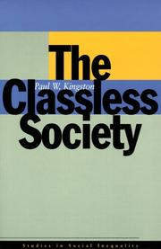 Cover of: The Classless Society (Studies in Social Inequality)