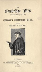 Cover of: The Cambridge ms (University library, Gg. 4.27) of Chaucer's Canterbury tales