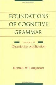 Cover of: Foundations of Cognitive Grammar: Volume II