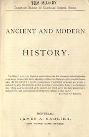 Cover of: Ancient and modern history. |